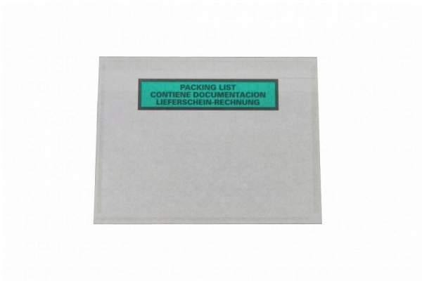 Dokumententasche DIN C6 mit Rechnungshinweis