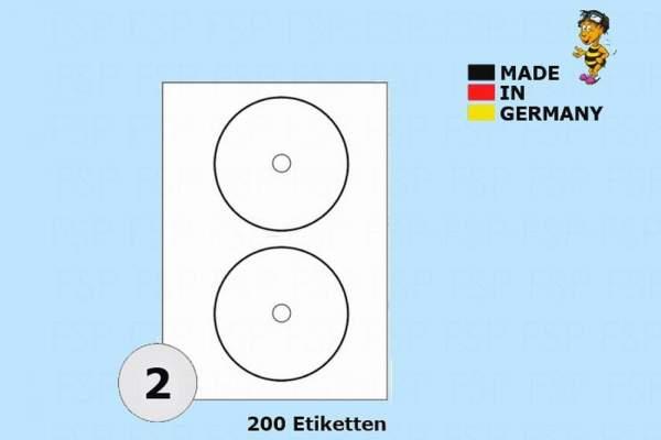 DIN A4 Druckeretiketten Label weiß