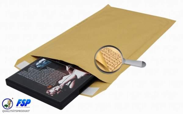 Papierpolstertaschen SUMO Gr.3/C 145x215mm hk = haftklebend braun (100 Stück)