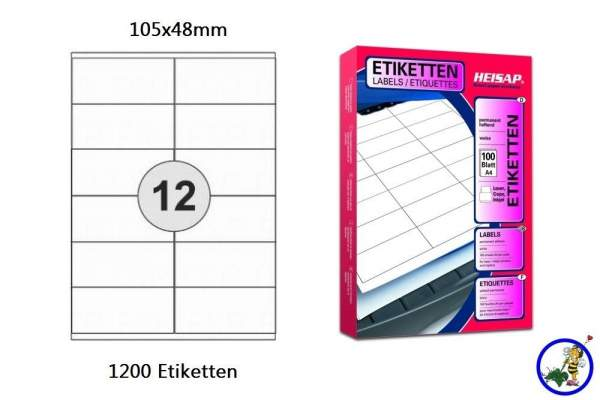 Papier-Etiketten 105x48mm DIN A4
