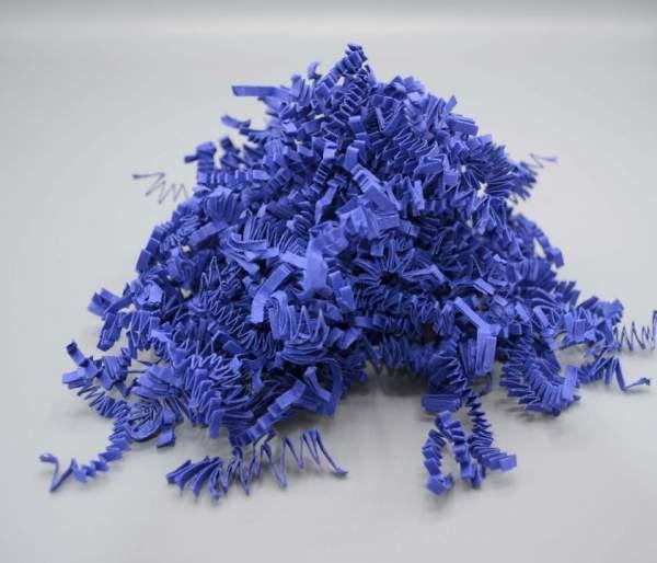 Nachhaltige Verpackungsmaterial Farbige Papierwolle Blau