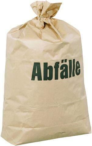 Mülltüten Papier 70g/m² 2lg. 120l 700x950mm braun 25 Stück