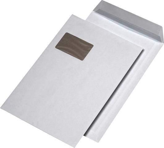 Versandtaschen haftklebend WEISS mit Fenster 250x353mm