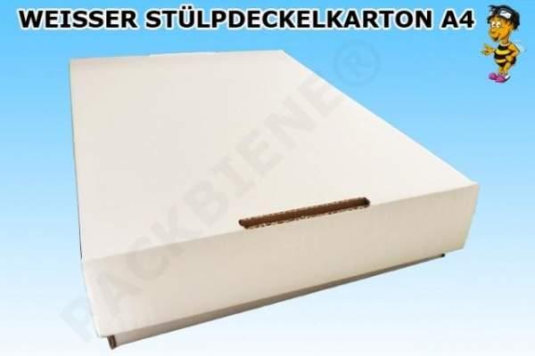 Stülpdeckelkarton aus Wellpappe 312x210x47mm weiß