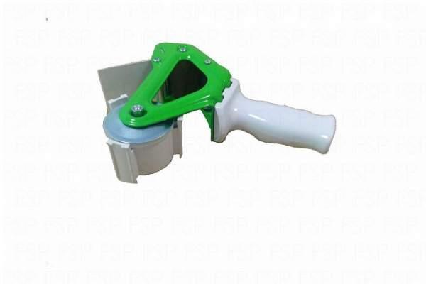 Handabroller für Klebeband 50mm x 66m Metall grün