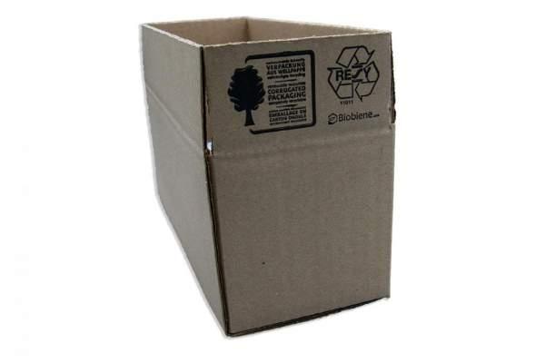 Einwellig Karton 250x100x100 Braun