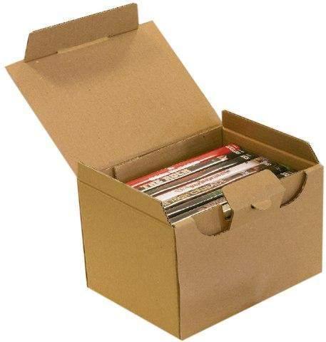 Kartons einwellig 120x100x80 mm mit Steckverschluss braun (25 Stück)