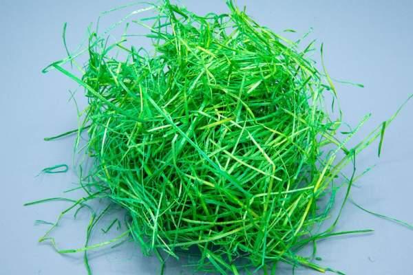 Holzwolle Hochwertige Qualität Grün