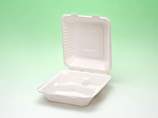 Lunchbox 438x200x35/47mm 3 Fächer kompostierbar