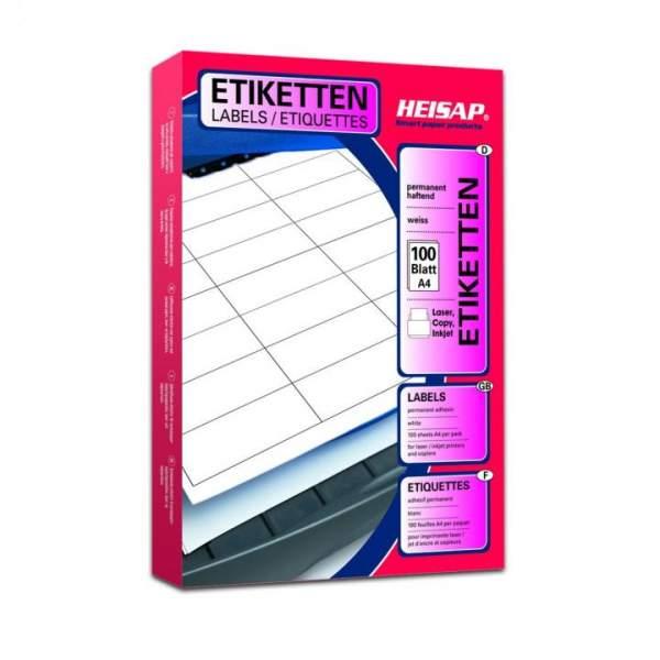DIN A4 Druckeretiketten Label (1 Pckg. á 100 Blatt)