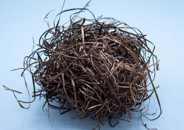 nachhaltige Holzwolle Polstermaterial Braun