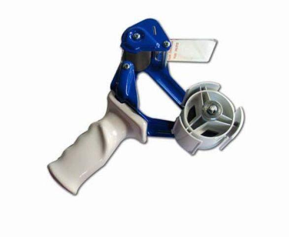 Handabroller für Klebeband 50mm x 66m Metall blau