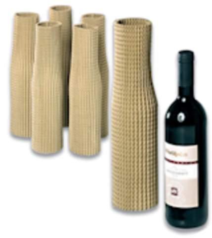Flaschenhülle Schutzhülle aus flexibler Wellpappe für Flaschen