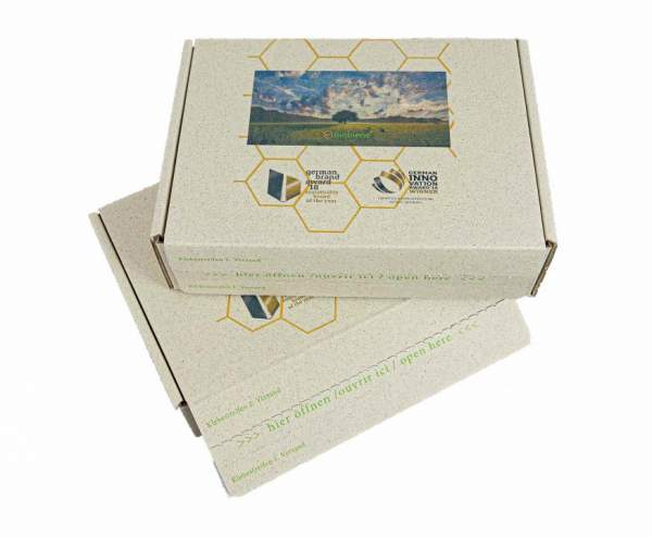 Graspapier-Kartons mit Ihrem Logo: Premium E-Commerce Naturebox® 318x232x90mm
