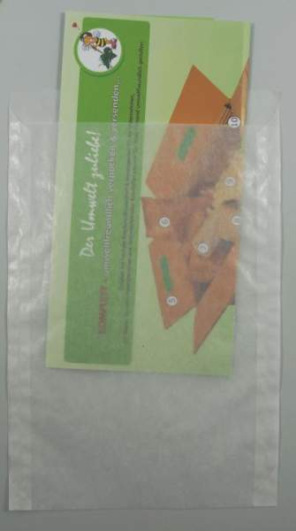 Papier-Flachbeutel transluzent 162x230+20mm