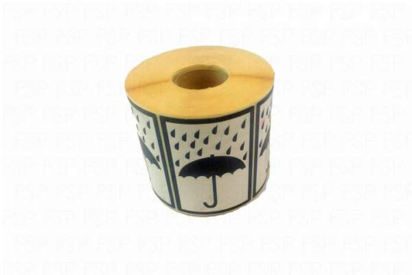 "Versandetiketten Hinweisetiketten Symbol ""Regenschirm"""