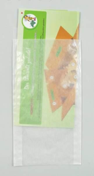 Flachbeutel 125x230+20mm Papier transluzent 100 Stück (FSP-FB125230)